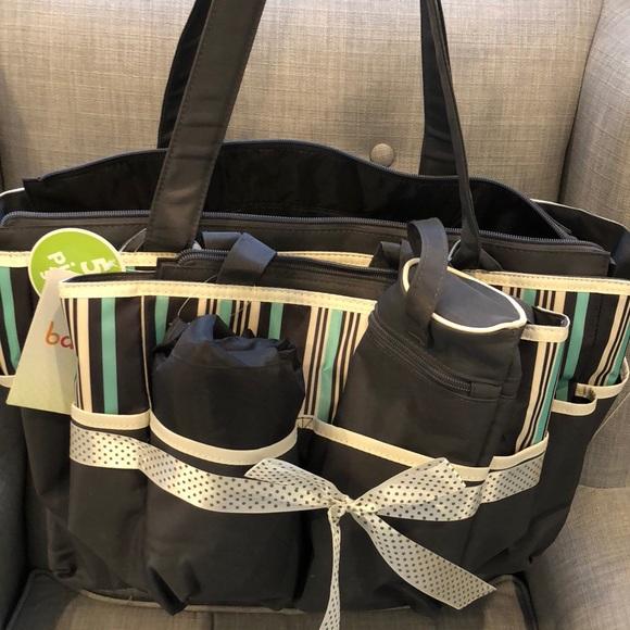 9eb8018c5d Baby Boom Accessories | Tote Diaper Bag 5pc Set Striped | Poshmark